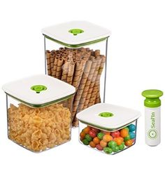 sealin food storage vacuum containers with patented design set of 3 - Ikea Lebensmittelbehlter