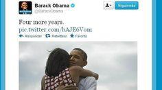 Tras el triunfo de las elecciones el presidente lo compartió en Twitter con estas palabras: «Cuatro años más», junto con una foto con Michelle Obama