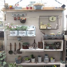 Having a shed in either your back yard or garden is now a popular sight in the majority of today's households. Garden Junk, Garden Deco, Garden Yard Ideas, Garden Table, Outdoor Potting Bench, Garden Center Displays, Mud Kitchen, Shed Design, Home Landscaping