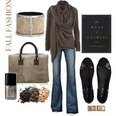"""Fall Outfit"" ....all but the shoes...they need to be more stylish !"