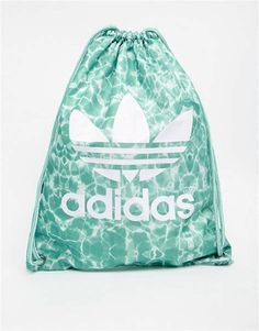 Buy adidas Originals Cloud Drawstring Backpack at ASOS. Get the latest trends with ASOS now. Vans Backpack, Black Backpack, Adidas Originals, Cinch Bag, Adidas Bags, School Accessories, Bags For Teens, Sack Bag, Cute Backpacks