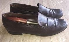 Bally Switzerland  Odessa Men's Slip On Loafers Shoes Brown Leather 13 N Narrow #Bally #LoafersSlipOns