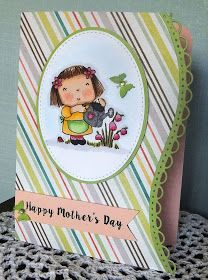 Here are a couple of cards I made to send to some special mothers in my life.      I decided to use a Betsy Bluebell image by Penny Black, c...