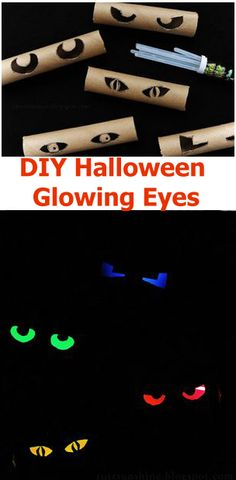 DIY Halloween Glowing Eyes