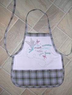 Kid Sized Tinkerbell Apron by funfoodsaprons on Etsy