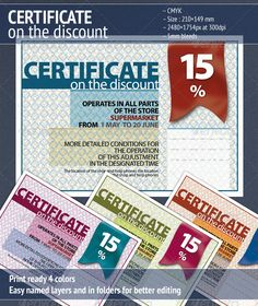 Certificate on the discount certificate certificate design and certificate on the discount 2 print templatespsd yadclub Images
