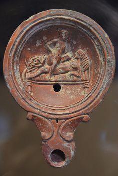 Oil lamp with erotic scene, Romisch-Germanisches Museum, Cologne | da Following Hadrian