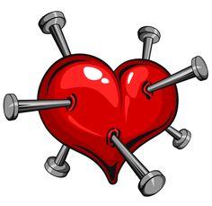 Nailed heart