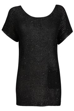 Black Sequin Knitted Tunic - Wallis US