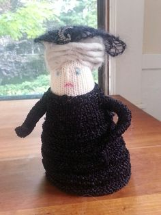 Knitted doll - one of my own.