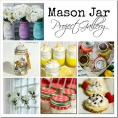 DIY-Beautiful  Decor & Yummy Food  Mason Jar Projects for a  Perfect Party  ! by It All Started With Paint