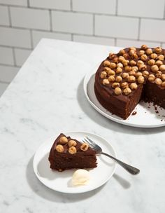 Dark Chocolate and Hazelnut Cake. This cake is a great finish to a dinner party. It is definitely a showstopper – however you only need a tiny slice due to the intensity!