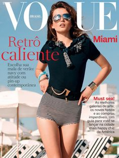 Andreea Diaconu is a Miami Beauty in Vogue Brazil August 2012 by Eric Guillemain