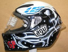 Custom Painted AGV Helmet #133 ~ Hand Painted Helmets - Make your order today..!!