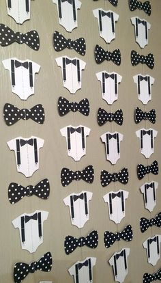1 Bow Tie Suspender Onesie Paper Garland by thepapercove on Etsy