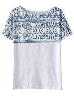 Totem Print Loose T-shirt | Choies