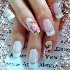 Uñas por crear Great Nails, Nail Arts, Beauty Nails, Girly Things, Nail Designs, Nail Polish, Virginia, White Nail Beds, Nail Design