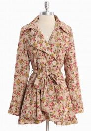 park avenue floral trench coat by Ark & Co.