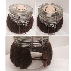 Cute jar #knitting #decor
