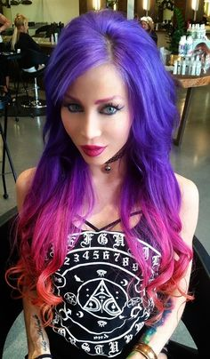 gorgeous purple pink hair