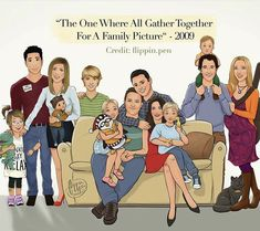 The Geller-Greens, the Bings with Joey and the Buffay-Hannigans Friends Best Moments, Friends Tv Quotes, Friends Scenes, Friends Poster, Friends Cast, Friends Episodes, Friends Tv Show, Just Friends, Friends Forever