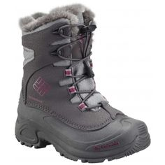 Columbia Youth Bugaboot Plus II Omni-Heat Boot - 6 - Shale / Deep Blush Girls Winter Boots, Winter Shoes, Insulated Boots, Building For Kids, Columbia Sportswear, Faux Fur Collar, Columbia Jacket, Outdoor Outfit, Kid Shoes