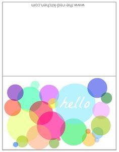 the red kitchen: Opacity -- 12 Free Printable Card Designs to Make & Share