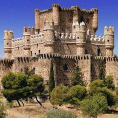 Guadamur.Castillo de Toledo y Puente sobre el Río Tajo