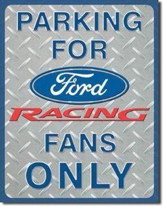 Ford Racing Parking Tin Sign