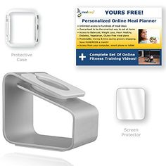 Apple Watch Stand w/ Case + Screen Protector (38mm) by Noviden + Recipe/Fitness Training Software Bonus! Noviden http://www.amazon.com/dp/B00ZJ5U902/ref=cm_sw_r_pi_dp_1rMPvb0WNDCJY