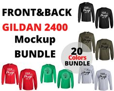 Front & Back Gildan 2400 Mockup Bundle, White Background, Unisex Design Template, Gildan Print on Demand Mockup Bundle Shirt Template, T Shirt Image, Blank T Shirts, Shirt Mockup, Boutique Design, Photo Editor, Online Business, Branding, Things To Sell
