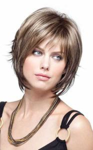 Short Layered Bob Hairstyles Short Hairstyles For Fat Faces 2 …  Bangs Ha…
