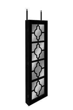 Jewelry Cabinet Armoire Mirror Drawers Storage Chest Organizer