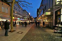 Obernstraße, die Flaniermeile in der Altstadt von Bielefeld.