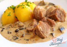 Nočky s vejci a šunkou No Salt Recipes, Meat Recipes, Cooking Recipes, Czech Recipes, Ethnic Recipes, Food 52, Stew, Potato Salad, Mashed Potatoes