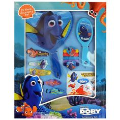 Disney Pixar Finding Dory 25-Piece Hair Accessory Set