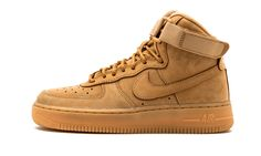 new styles 65913 aa1ea Nike Air Force 1 High LV8 (GS) Flax Outdoor Green  Wheat