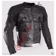 Dead Pool Motorcycle Leather Jacket with CE Armored Padding /Dead Pool Motorbike Jacket in Black #deadpool #dead #motorcycles #motorbike #motorsport