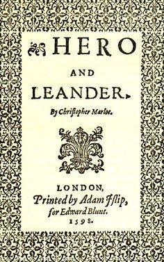 Hero and Leander, Christopher Marlowe