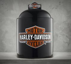 For all the tough guys with a sweet tooth. | Harley-Davidson Bar & Shield Cookie Jar