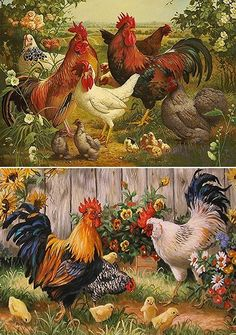 [New] The 10 Best Craft Ideas Today (with Pictures) - Napkin decoupage Open PO # decoupage Rooster Painting, Rooster Art, Rooster Decor, Chicken Painting, Chicken Art, Decoupage Vintage, Decoupage Paper, Napkin Decoupage, Beautiful Birds