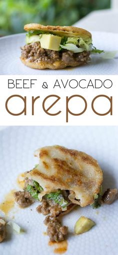 Beef and Avocado Arepa Recipe – Delicious dinner recipe. Beef and Avocado Arepa Comida Latina, Beef Recipes, Mexican Food Recipes, Cooking Recipes, Beef Meals, Cooking Food, Food Food, Easy Recipes, Latin Food