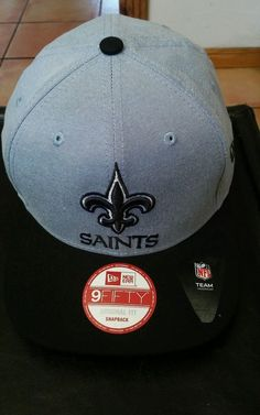 07cc28cb1c9 NEW ORLEAN SAINTS 9 fifty snap back new era hat one size fits most new