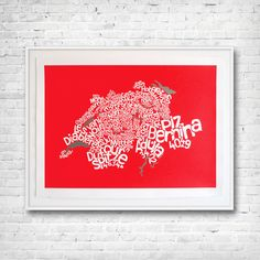 Swiss Mountain Map This map names highest mountain in each Swiss Canton. Map Of Switzerland, Original Paintings, Original Art, City Maps, Ursula, Map Art, Artwork Online, Printmaking, Screen Printing