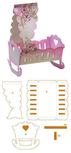 Cunas y carriolas para baby shower con molde - Dale Detalles
