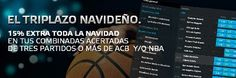 suertia bono 50 euros extra si aciertas ACB o NBA navidad 2014