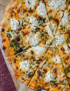 I know that title is a little crazy, but this pizza is a mouthful, both in name and flavor.  There are so many wonderful things going on here, but the creamy pumpkin sauce, truffled gouda, and herbed