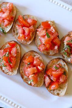 Tomato Basil Bruschetta | Annie's Eats - with fresh garlic, tomatoes, basil, olive oil...this was one of my favorite foods in Italy...and I think it is so delicious that it can be eaten as a meal!