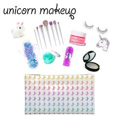 """""""Unicorn Makeup"""" by xx-rainbowtoast-xx ❤ liked on Polyvore featuring beauty, In Your Dreams, FCTRY, Forever 21, Unicorn Lashes and FOSSIL"""