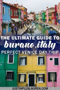 You must visit the colorful Burano island in Venice! We'll show you how to get to Burano from Venice, what to do in Burano, and how to visit Venice islands. European Destination, European Travel, Italy Travel Tips, Travel Destinations, Budget Travel, Day Trips From Venice, Visit Venice, Italy Vacation, Italy Trip